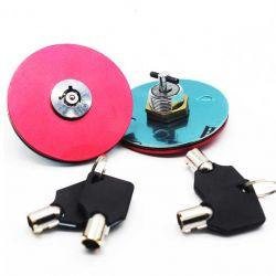 قفل کاپوت اسپورت کلید دار قرمز رنگ